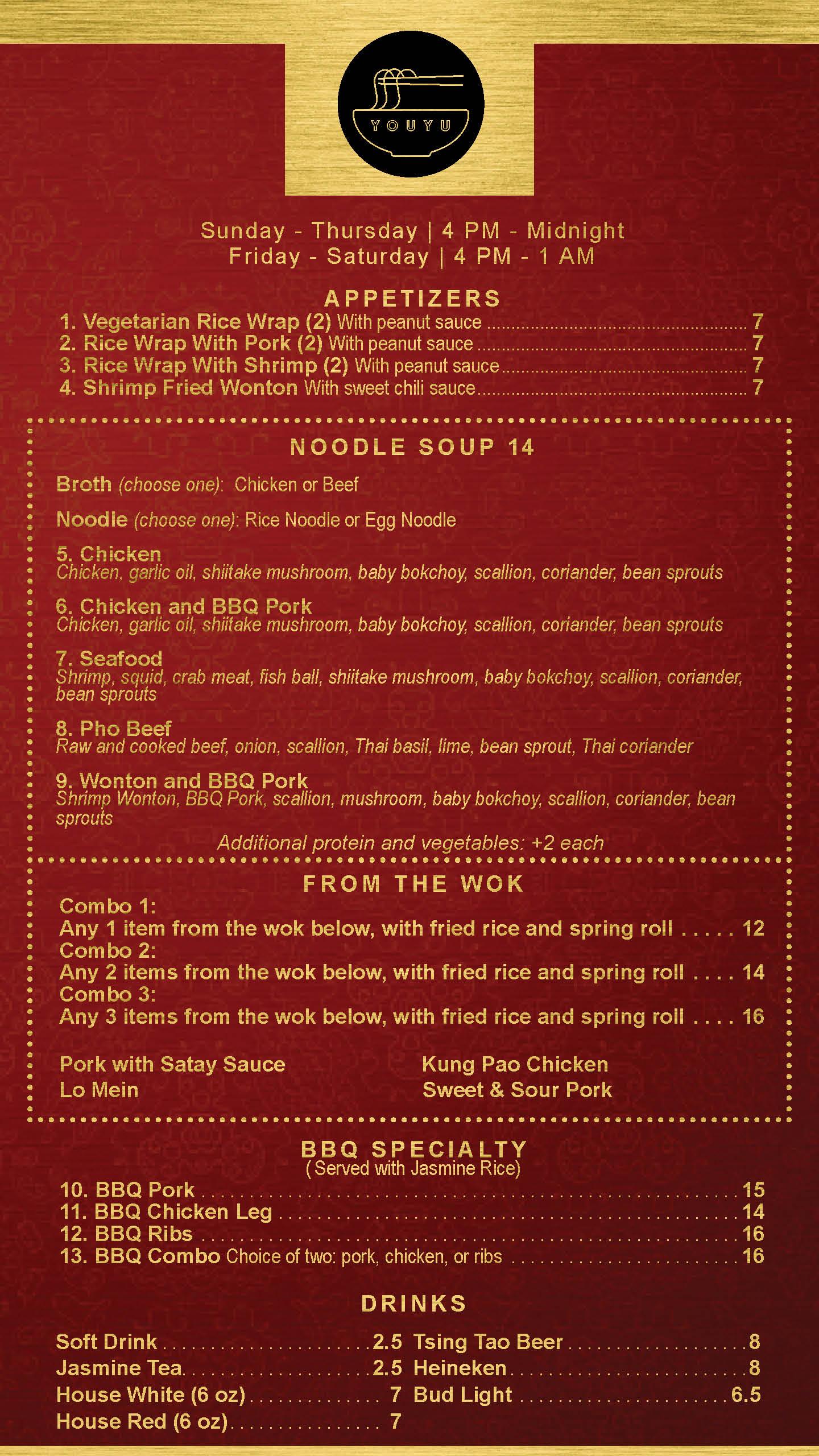 Youyu Noodle Bar | Rideau Carleton Raceway Casino